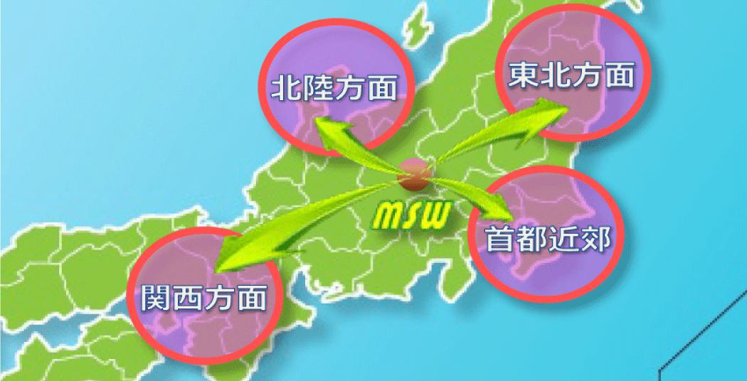 丸勝渡邉運輸 日本地図 丸勝 運輸 MSW 全国 求車 求荷